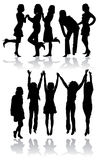 Vector silhouettes women Royalty Free Stock Photo