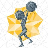 Vector silhouettes of woman doing fitness and crossfit workouts Stock Photo