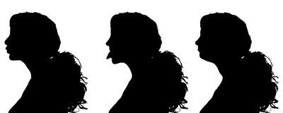 Vector silhouettes woman. Royalty Free Stock Photos