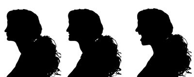 Vector silhouettes woman. Royalty Free Stock Photo