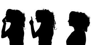 Vector silhouettes woman. Royalty Free Stock Image