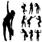 Vector silhouettes of woman. Royalty Free Stock Photo