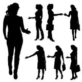 Vector silhouettes of woman. Stock Photography