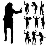 Vector silhouettes of woman. Stock Images