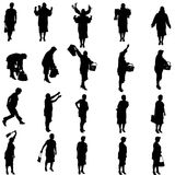 Vector silhouettes of woman. Royalty Free Stock Images