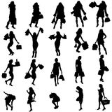 Vector silhouettes of woman. Royalty Free Stock Image