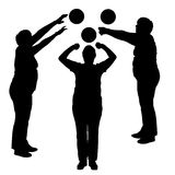 Vector silhouettes of women in sport. Vector silhouettes of women in sport on a white background Royalty Free Stock Photo