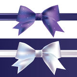 Vector silk bow Royalty Free Stock Photography