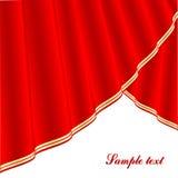 Vector silky curtains Stock Photos