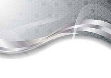 Vector silver abstract background Stock Photos
