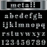 Vector silver alphabet. Illustration EPS 10 Royalty Free Stock Image