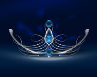 Diadem with sapphires Royalty Free Stock Photo