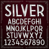 Vector Silver Embossed Font Royalty Free Stock Image