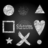 Vector Silver Foil Collection Royalty Free Stock Image