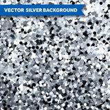 Vector Silver Glittering background Stock Photo