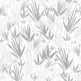 Vector Silver Grey Asian bamboo Kimono Seamless Pattern Background. Great for elegant gray texture fabric, cards Stock Photography