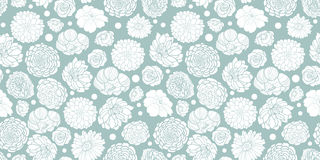 Vector silver grey spring flowers seamless repeat pattern bacgkround design. Great for springtime greeting cards Royalty Free Stock Photography