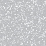 Vector Silver Grey Tree Braches Texture Seamless Royalty Free Stock Photos
