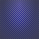Vector silver grille on blue background Royalty Free Stock Images