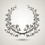Vector silver laurel wreath Stock Image