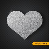 Vector Silver sparkles heart. Valentines Day Vector Sparkles and Glitters. Holiday Design. Valentines Day Vector Sparkles and Glitters. Heart shape royalty free illustration