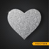 Vector Silver sparkles heart. Valentines Day Vector Sparkles and Glitters. Holiday Design. Valentines Day Vector Sparkles and Glitters. Heart shape vector illustration