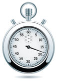 vector silver stopwatch Stock Photos