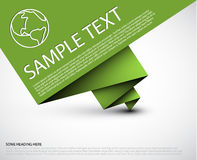 Vector simple background with folded green paper Royalty Free Stock Photo