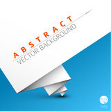 Vector simple background with folded white paper Royalty Free Stock Photography