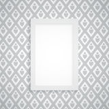 Vector simple blank frame on gray wallpaper Stock Image