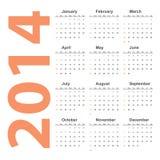 Vector simple 2014 Calendar. EPS10 Stock Illustration