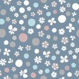 Vector simple del estampado de flores del color en colores pastel inconsútil imágenes de archivo libres de regalías