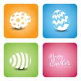 Vector simple easter card stock image