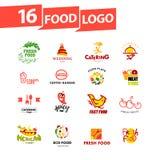 Vector simple flat food logo. Royalty Free Stock Image