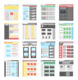 Vector simple flat website design templates icons set. vector illustration