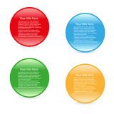 Vector simple four color icons Stock Images