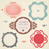 Vector simple framework in Victorian style. Element for design. You can place the text in an empty frame. It can be used for decorating of invitations, greeting Royalty Free Stock Photo