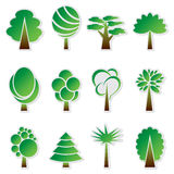 Vector simple green tree icon set Royalty Free Stock Photo