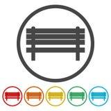 Vector simple icon, Bench icon. Vector icon vector illustration