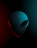 Vector simple illustration of an alien. In dark colors Stock Images