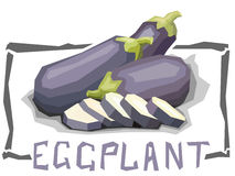 Vector simple illustration of bell eggplants. Royalty Free Stock Photography