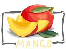 Vector simple illustration of fruit mango. Royalty Free Stock Photo