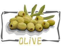Vector simple illustration of olives. Stock Photography
