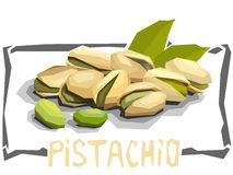 Vector simple illustration of pistachios. Stock Images