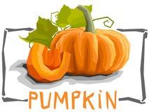 Vector simple illustration of pumpkin. Royalty Free Stock Photos