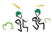Vector simple illustration of running stick Stock Photos