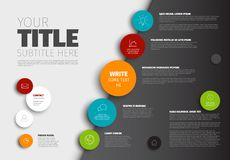 Vector Simple Infographic report template Royalty Free Stock Photography