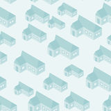 Vector simple isometric houses seamless pattern Royalty Free Stock Images