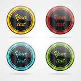 Vector simple labels. Set of color vector simple vintage labels Stock Photos