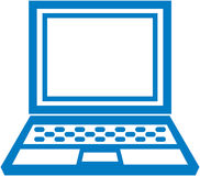 Vector simple laptop icon Royalty Free Stock Photography